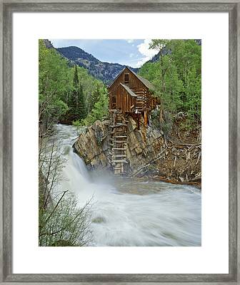 Crystal Mill Swirls Framed Print by Dusty Demerson