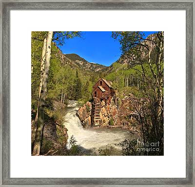 Crystal Mill Through The Trees Framed Print by Adam Jewell