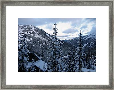 Crystal Mountain Dawn Framed Print by Lorraine Devon Wilke