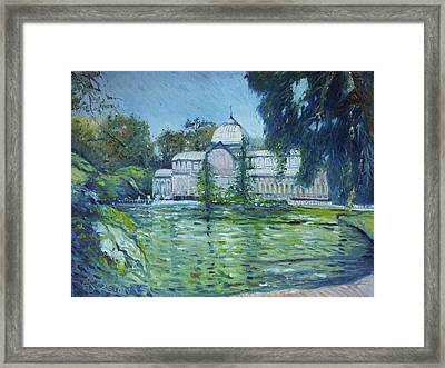 Crystal Palace Madrid Spain 2016 Framed Print by Enver Larney