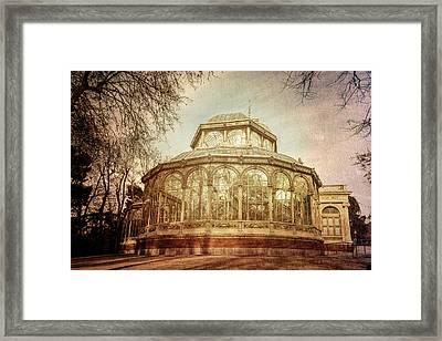 Crystal Palace Madrid Textured Framed Print