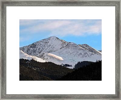 Crystal Peak Framed Print
