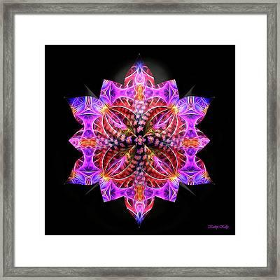 Crystal Petals Framed Print by Kathy Kelly