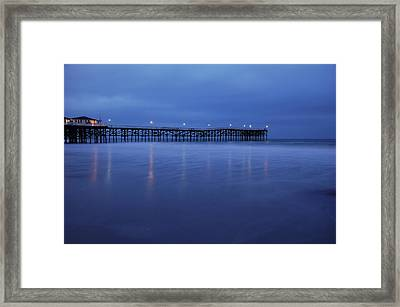Crystal Pier Blue Framed Print by Kelly Wade