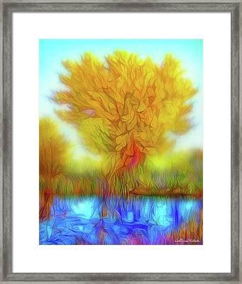 Crystal Pond Dream Framed Print