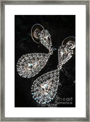 Crystal Rhinestone Jewellery Framed Print by Jorgo Photography - Wall Art Gallery