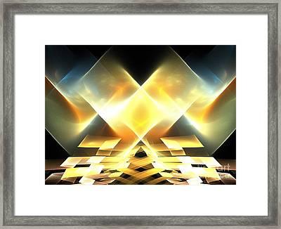 Crystal Sand Mountains Framed Print by Kim Sy Ok