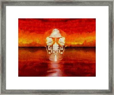 Crystal Skull Framed Print