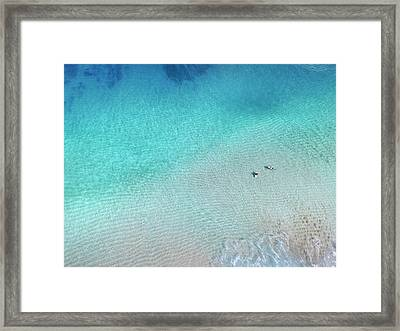 Crystal Surf Framed Print by Sean Davey
