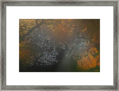 Crystal Tree Top Framed Print by Kat Besthorn