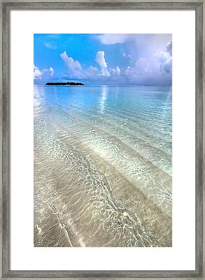 Crystal Water Of The Ocean Framed Print by Jenny Rainbow
