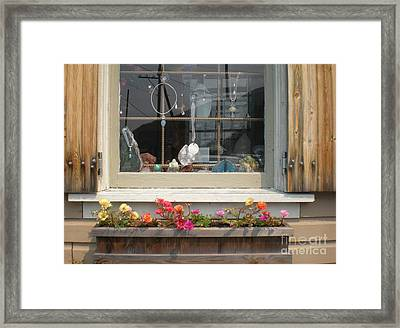 Framed Print featuring the photograph Crystal Window by Kim Prowse