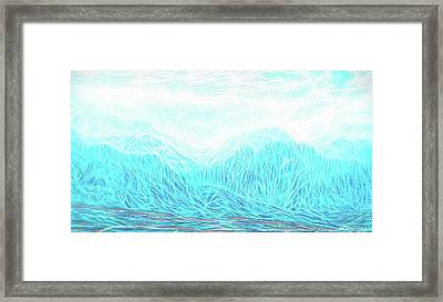 Crystalline Mountain Light Framed Print