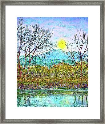 Crystalline Twilight Reflections - Boulder County Colorado Framed Print