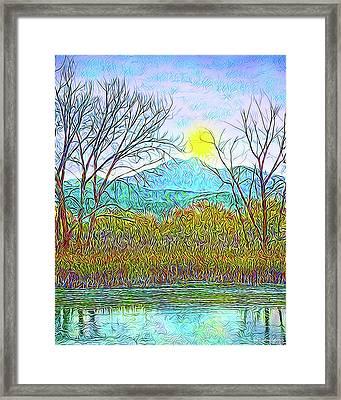 Crystalline Twilight Reflections - Boulder County Colorado Framed Print by Joel Bruce Wallach