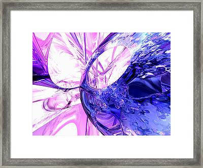 Crystallized Abstract Framed Print by Alexander Butler