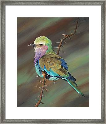 Framed Print featuring the painting Crystal's Bird by AnnaJo Vahle