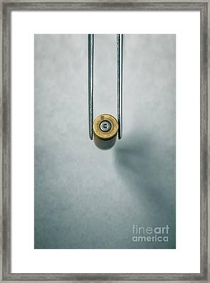 Csi Bullet Shell Evidence  Framed Print