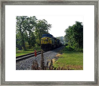 Csx 425 Coming Down The Tracks Framed Print