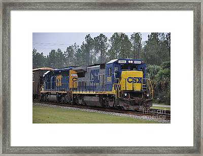 Csx 5955 Through Folkston Georgia Framed Print