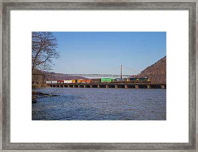 Csx #662 At Bear Mountain Framed Print by Gentle Road Photography