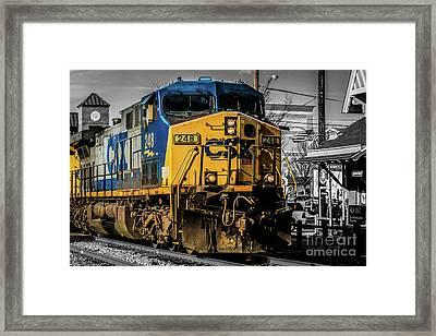 Csx Engine Gaithersburg Md Framed Print