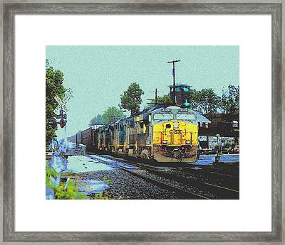 Csx In Downtown Ashland Framed Print by Cliff Wilson