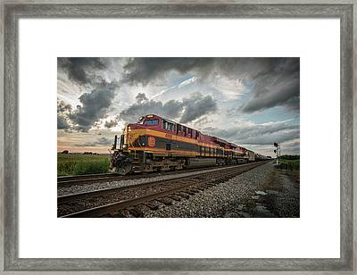 Csx K443 South At Ft Branch Indiana Framed Print