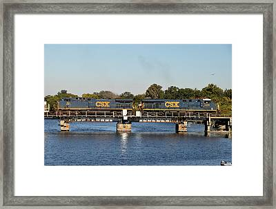 Csx On Mills Bayou Framed Print