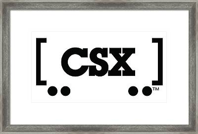 CSX Framed Print by The Baltimore and Ohio Railroad