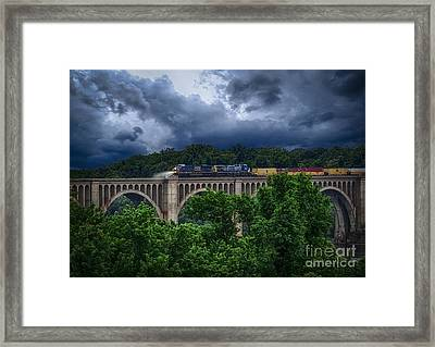 Csx Train Trestle Framed Print by Melissa Messick