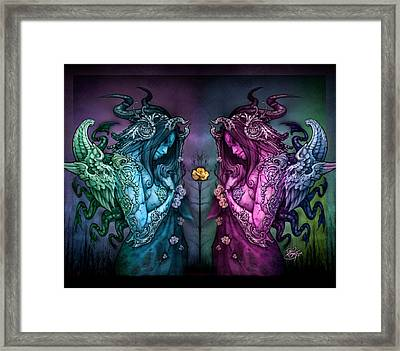 Cthluhu Rainbow Framed Print by David Bollt