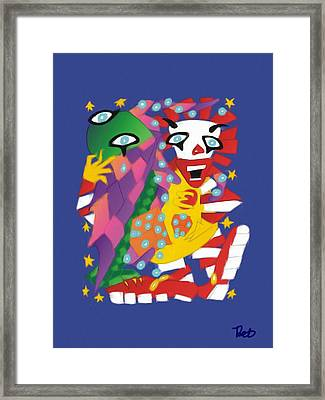 Cthulhu And Ronald Macdonald Playing Dice With The Universe Framed Print