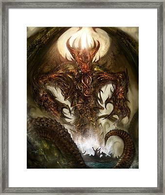 Cthulhu Rising Framed Print