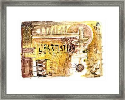 Cuarto Menguante Framed Print by Armando Ruiz