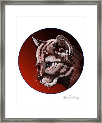 Cub Framed Print by Terry Frederick