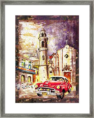 Cuba Authentic Madness Framed Print by Miki De Goodaboom