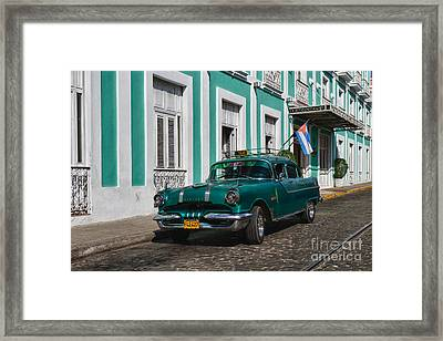 Framed Print featuring the photograph Cuba Cars II by Juergen Klust