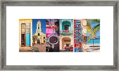 Cuba Collage Framed Print