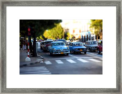 Cuba Street Scene Framed Print
