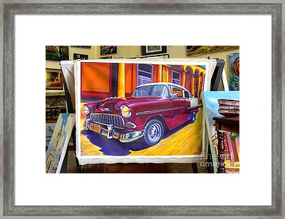 Cuban Art Cars Framed Print by Wayne Moran