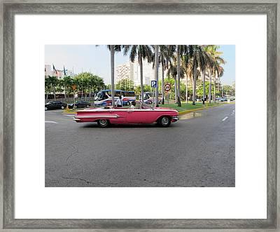 Cuban Cars 3 Framed Print by Cindy Kellogg
