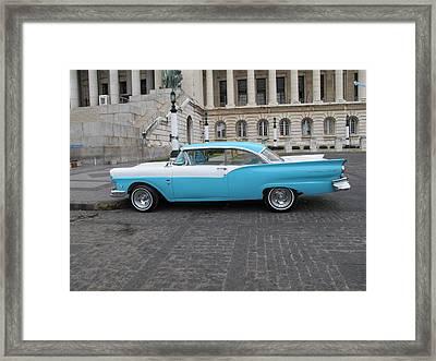 Cuban Cars 7 Framed Print by Cindy Kellogg