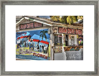 Cuban Coffee Queen Framed Print