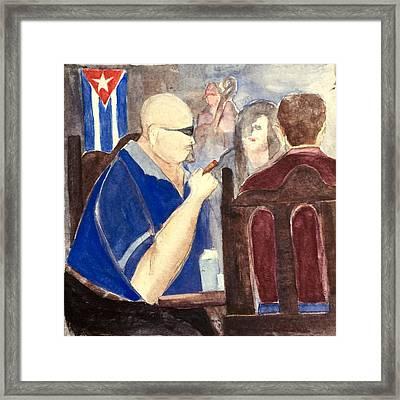 Cuban Lunch Framed Print