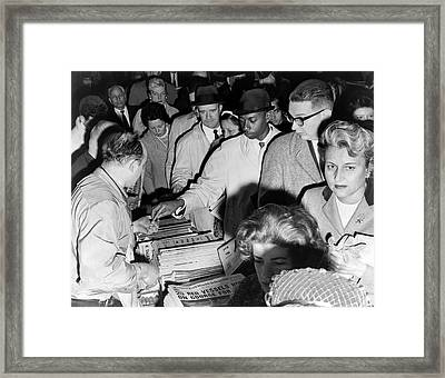 Cuban Missile Crisis News Framed Print by Underwood Archives
