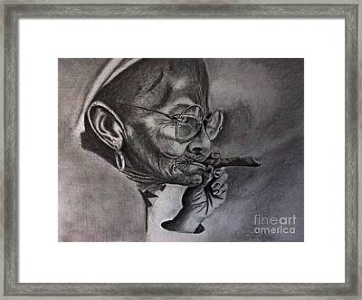 Cuban Old Lady Framed Print