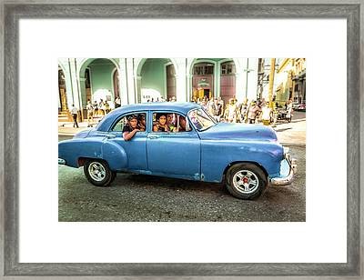 Framed Print featuring the photograph Cuban Taxi by Lou Novick
