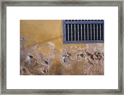 Cuban Wall And Window Framed Print