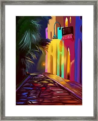 Cubano Street Framed Print